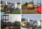 نصب ست ورزشی و مجموعه بازی کودک اهدائی خیرین  توسط شهرداری کوت عبدالله